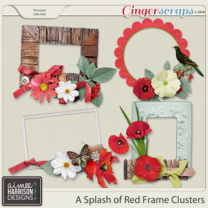 A Splash of Red Frame Clusters by Aimee Harrison