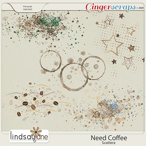 Need Coffee Scatterz by Lindsay Jane