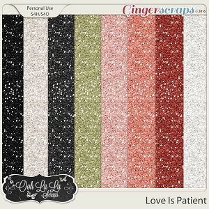 Love Is Patient Glitter Sheets