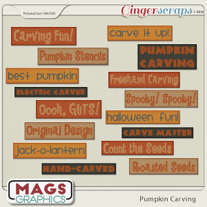 Pumpkin Carving TITLE TAGS by MagsGraphics