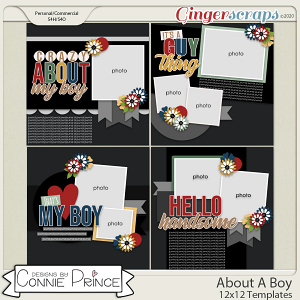 About A Boy - 12x12 Templates (CU Ok) by Connie Prince