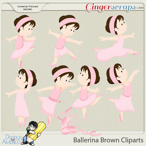 Doodles By Americo: Ballerina Brown Cliparts