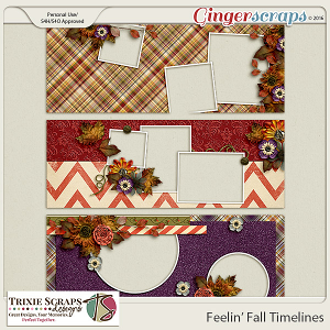 Feelin' Fall Timelines by Trixie Scraps Designs
