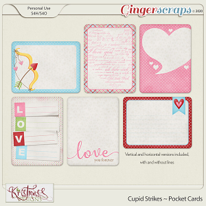 Cupid Strikes Pocket Cards