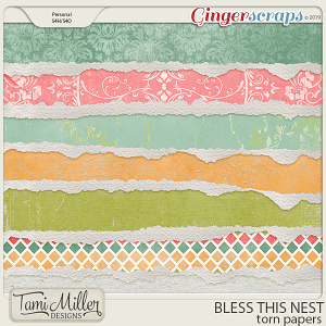Bless This Nest Torn Papers by Tami Miller Designs
