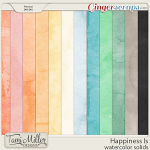 Happiness Is Watercolor Solids by Tami Miller Designs