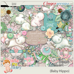 Baby Hippo Page Kit