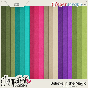 Believe in the Magic {Solid Papers} by Jumpstart Designs