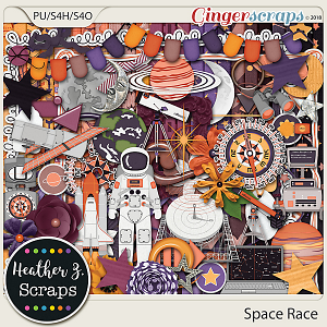 Space Race KIT by Heather Z Scraps