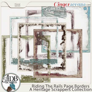Riding the Rails Page Borders by ADB Designs