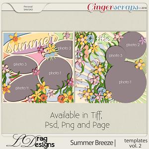 Summer Breeze: Templates Vol. 2 by LDragDesigns