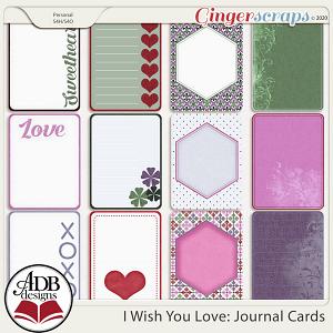 I Wish You Love Journal Cards by ADB Designs