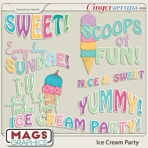 Ice Cream Party WORD ART by MagsGraphics