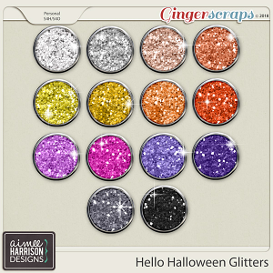 Hello Halloween Glitters by Aimee Harrison