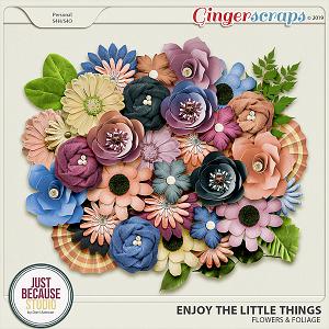 Enjoy The Little Things Flowers & Foliage by JB Studio