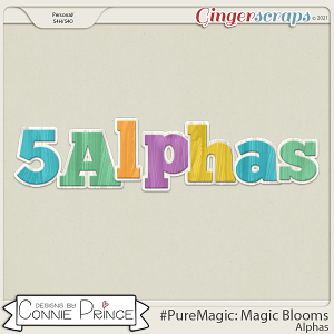 PureMagic: Magic Blooms - Alpha Pack AddOn by Connie Prince