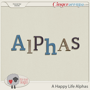 A Happy Life Alphas by Luv Ewe Designs