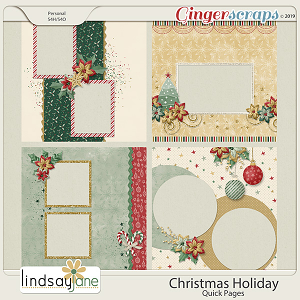 Christmas Holiday Quick Pages by Lindsay Jane