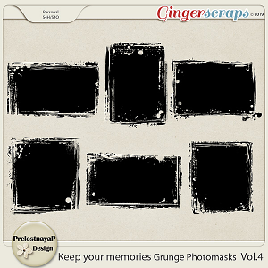 Keep your memories Grunge Photomasks Vol.4
