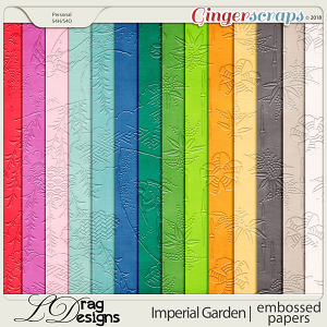 Imperial Garden: Embossed Papers by LDragDesigns