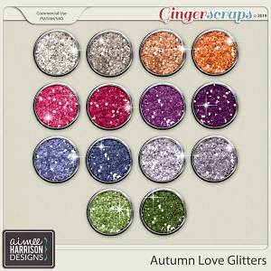 Autumn Love Glitters by Aimee Harrison