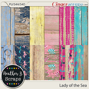 Lady of the Sea WEATHERED WOOD by Heather Z Scraps