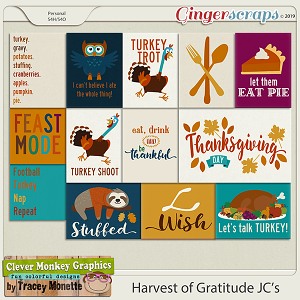 Harvest of Gratitude Journal Cards by Clever Monkey Graphics