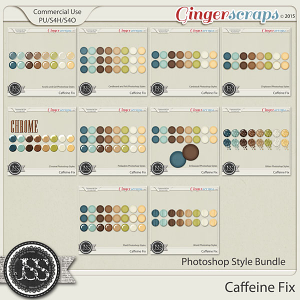 Caffeine Fix CU Photoshop Styles Bundle