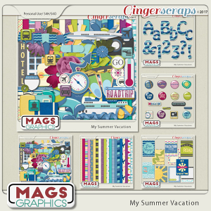 My Summer Vacation BUNDLE by MagsGraphics