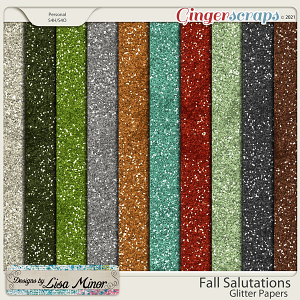 Fall Salutations Glitter Papers from Designs by Lisa Minor