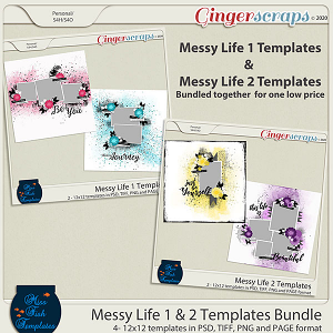 Messy Life 1 & 2 Templates Bundle by Miss Fish