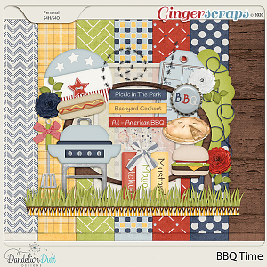 BBQ Time Digital Scrapbook Kit By Dandelion Dust Designs