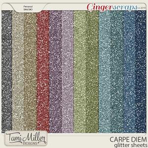 Carpe Diem Glitter Sheets by Tami Miller Designs