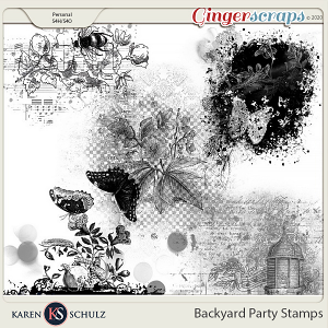 Backyard Party Stamps by Karen Schulz