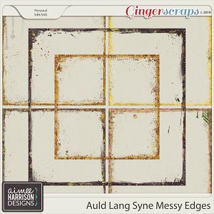 Auld Lang Syne Messy Edges by Aimee Harrison