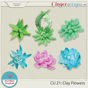 CU 21 - Clay flowers