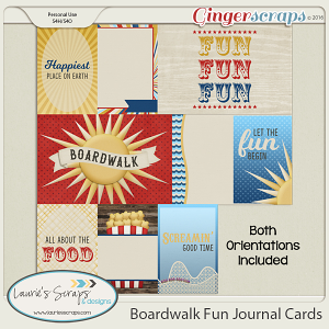 Boardwalk Fun Journal Cards