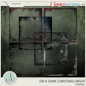 On A Dark Christmas Night Overlays by Ilonka's Designs