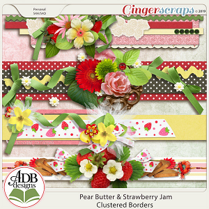Pear Butter & Strawberry Jam Borders by ADB Designs