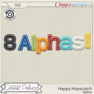 Happy Hopscotch - Alpha Pack AddOn by Connie Prince