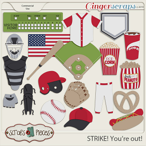 Strike You're Out CU Templates by Scraps N Pieces