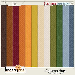 Autumn Hues Embossed Papers by Lindsay Jane