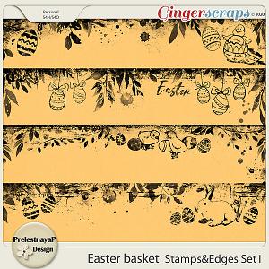 Easter basket Stamps & Edges Set1