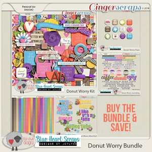 Donut Worry Bundle by Luv Ewe Designs and Blue Heart Scraps