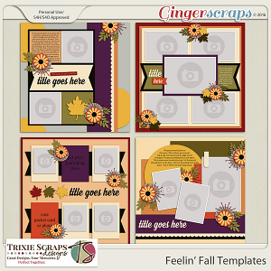 Feelin' Fall Templates by Trixie Scraps Designs