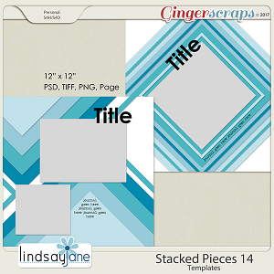Stacked Pieces 14 Templates by Lindsay Jane
