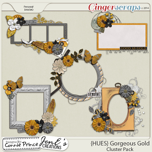 {HUES} Gorgeous Gold - Cluster Pack