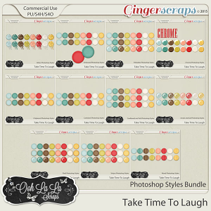 Take Time To Laugh CU Photoshop Styles Bundle