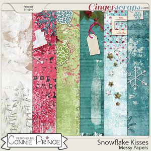 Snowflake Kisses - Messy Papers by Connie Prince