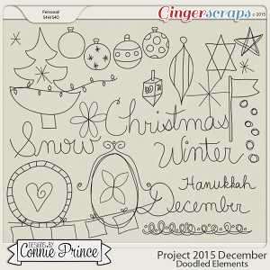 Project 2015 December - Doodled Elements
